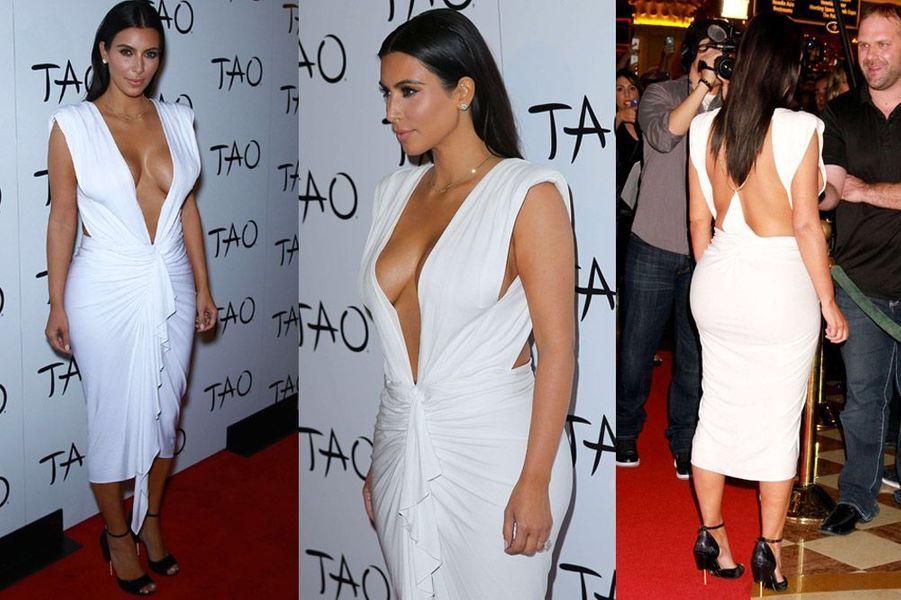 Kim Kardashian fête ses 34 ans à Las Vegas le 24 octobre 2014