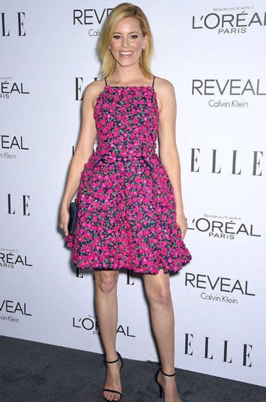 L'actrice américaine Elizabeth Banks, 40 ans, en Michael Kors pour une soirée à Beverly Hills, le 20 octobre 2014