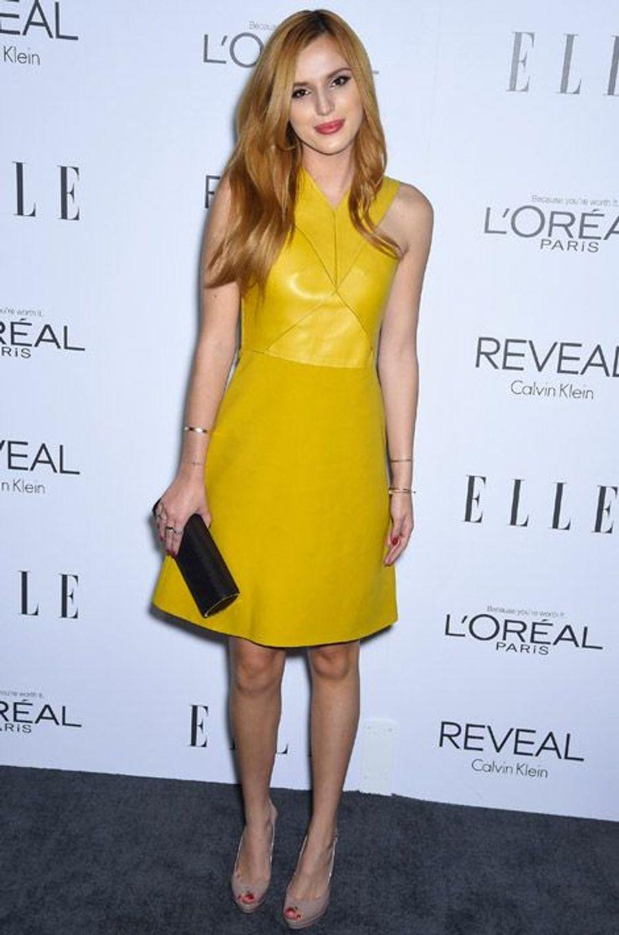 L'actrice Bella Thorne, 17 ans, en Gucci pour une soirée à Beverly Hills, le 20 octobre 2014