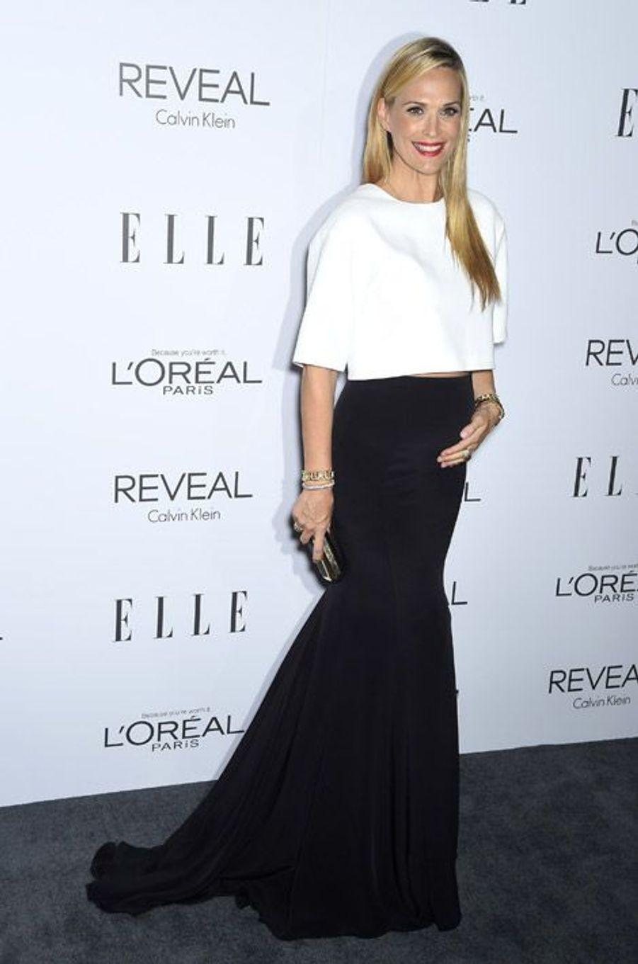 L'actrice Molly Sims, 41 ans, pour une soirée à Beverly Hills, le 20 octobre 2014