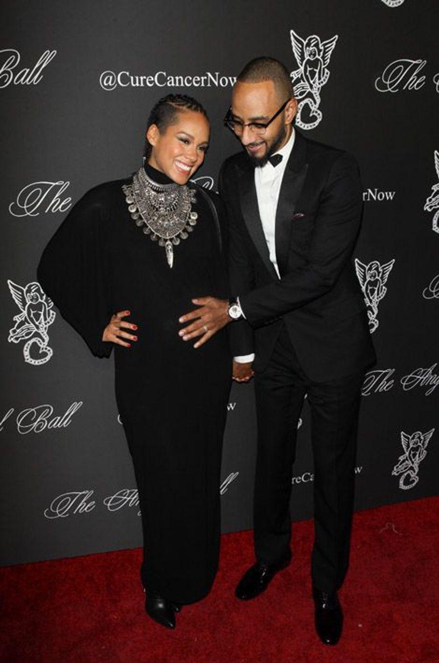 La chanteuse Alicia Keys, 33 ans, lors d'une soirée caritative à New York, le 20 octobre 2014