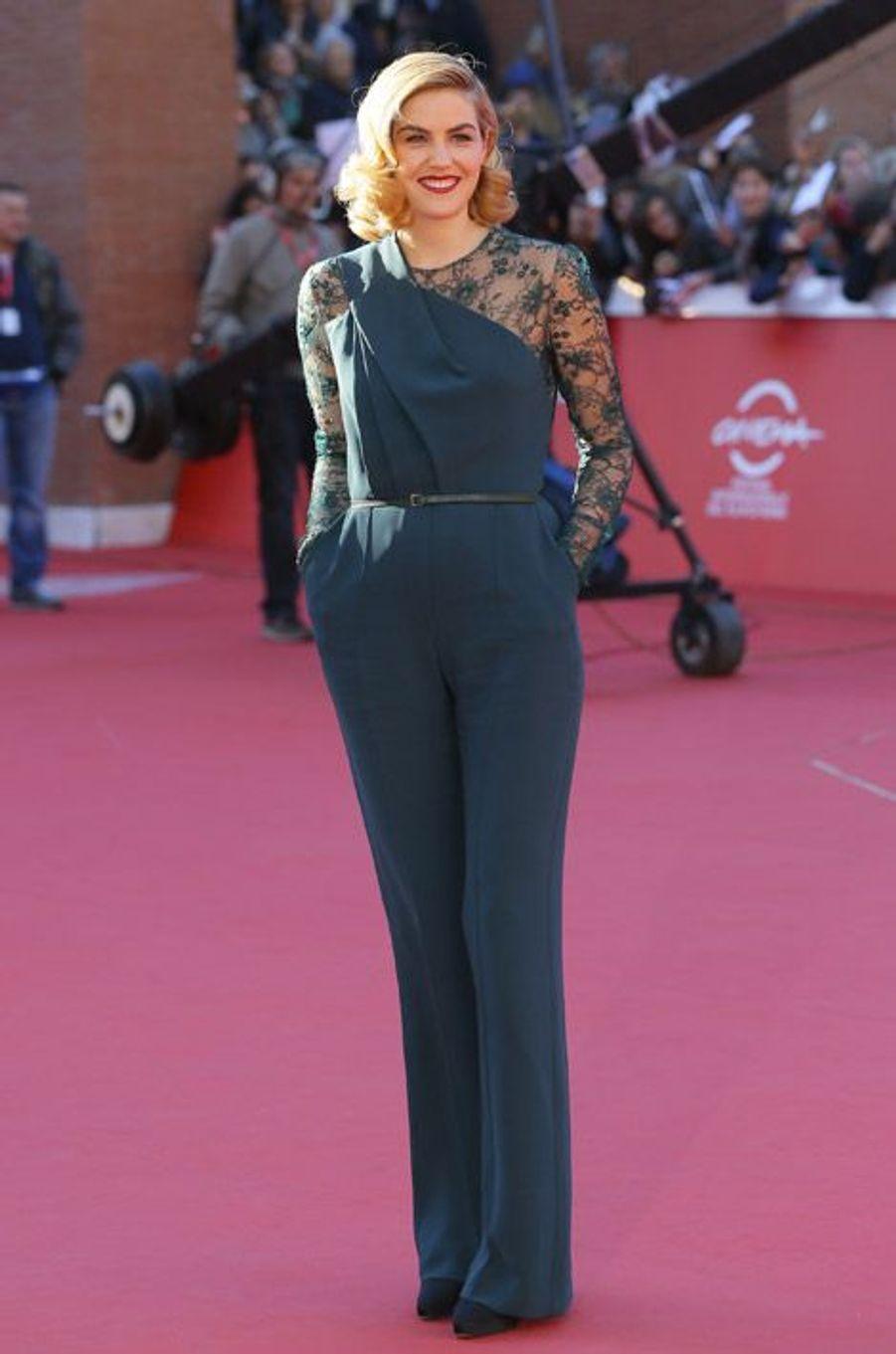 La fille de Kevin Costner, Lily Costner, 28 ans, lors du festival du film de Rome, le 24 octobre 2014