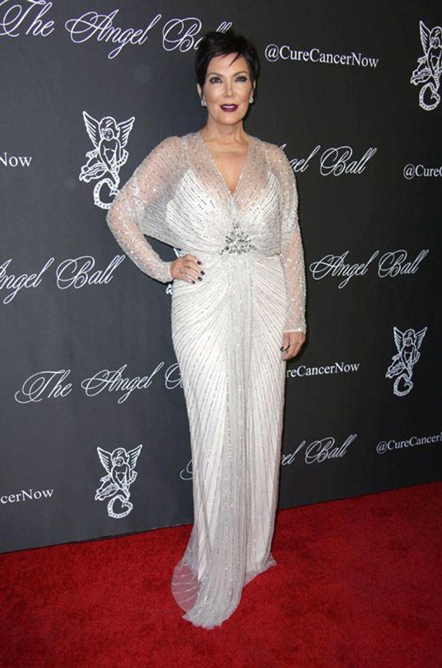 La star de la téléréalité, Kris Jenner, 58 ans, lors du Angel Ball 2014 à New York, le 20 octobre 2014