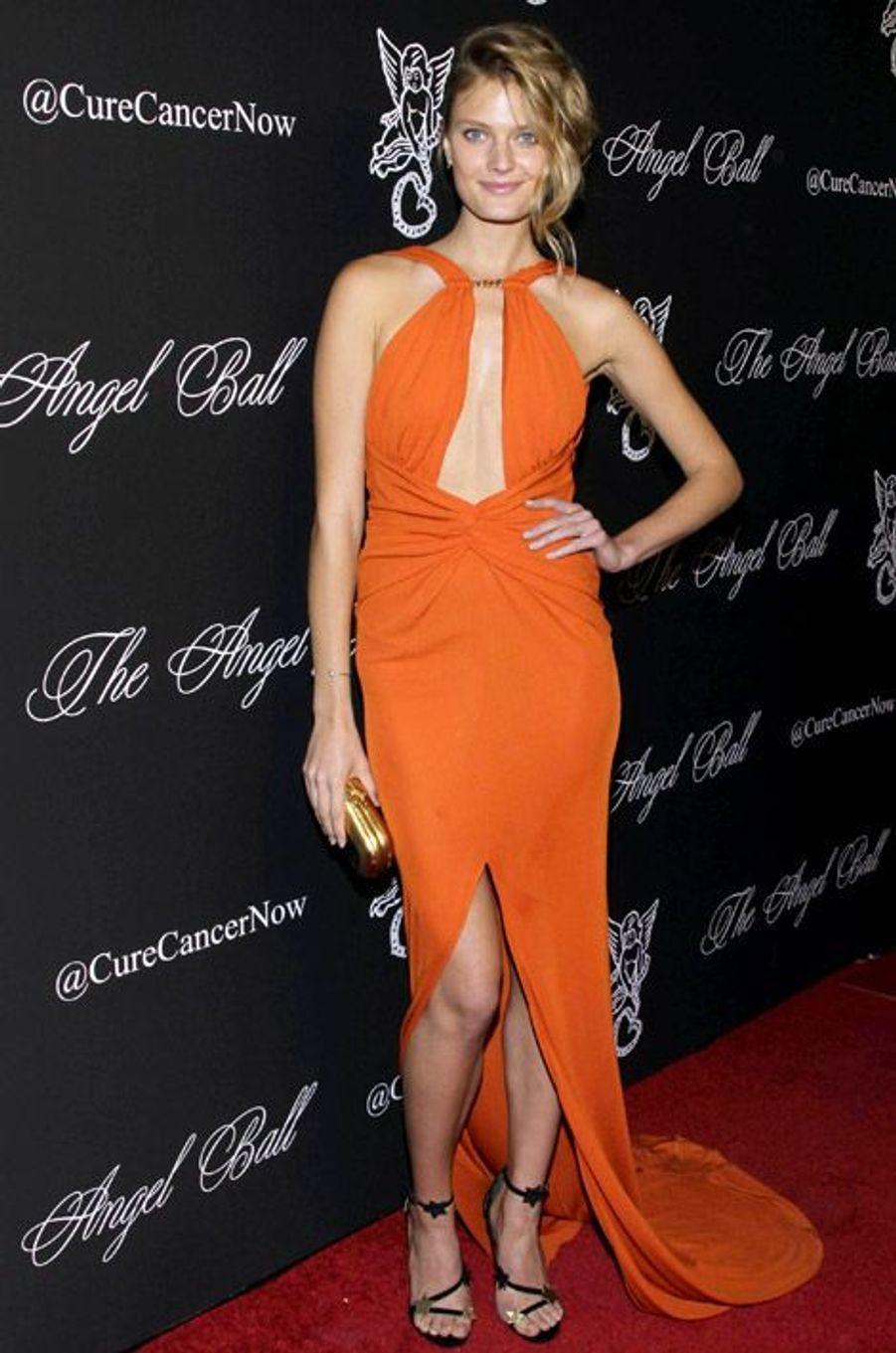 Le mannequin Constance Jablonski, 23 ans, lors du Angel Ball 2014 à New York, le 20 octobre 2014