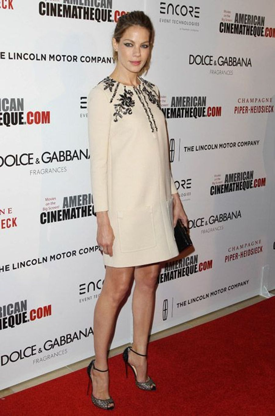 Michelle Monaghan, 38 ans, en robe Miu Miu lors des American Cinematheque Award en l'honneur de Matthew McConaughey