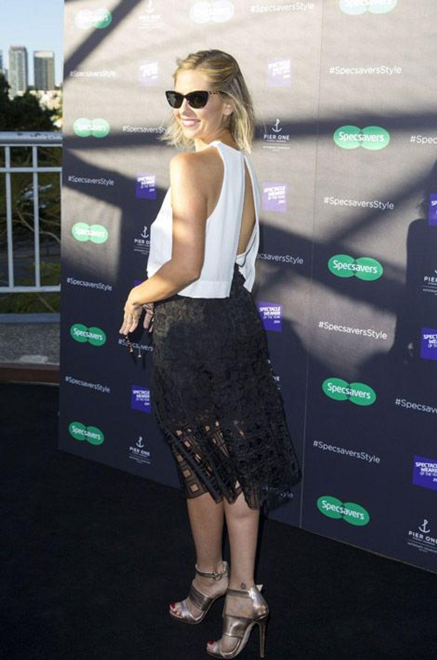 """Sarah Michelle Gellar, ex-star de la série """"Buffy contre les vampires"""", 37 ans, à Sydney, le 22 octobre 2014"""