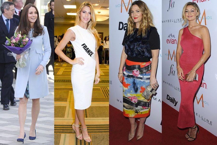 Kate Middleton, Camille Cerf, Drew Barrymore, Gigi Hadid : ces stars qui optent pour le pastel et la couleur en hiver