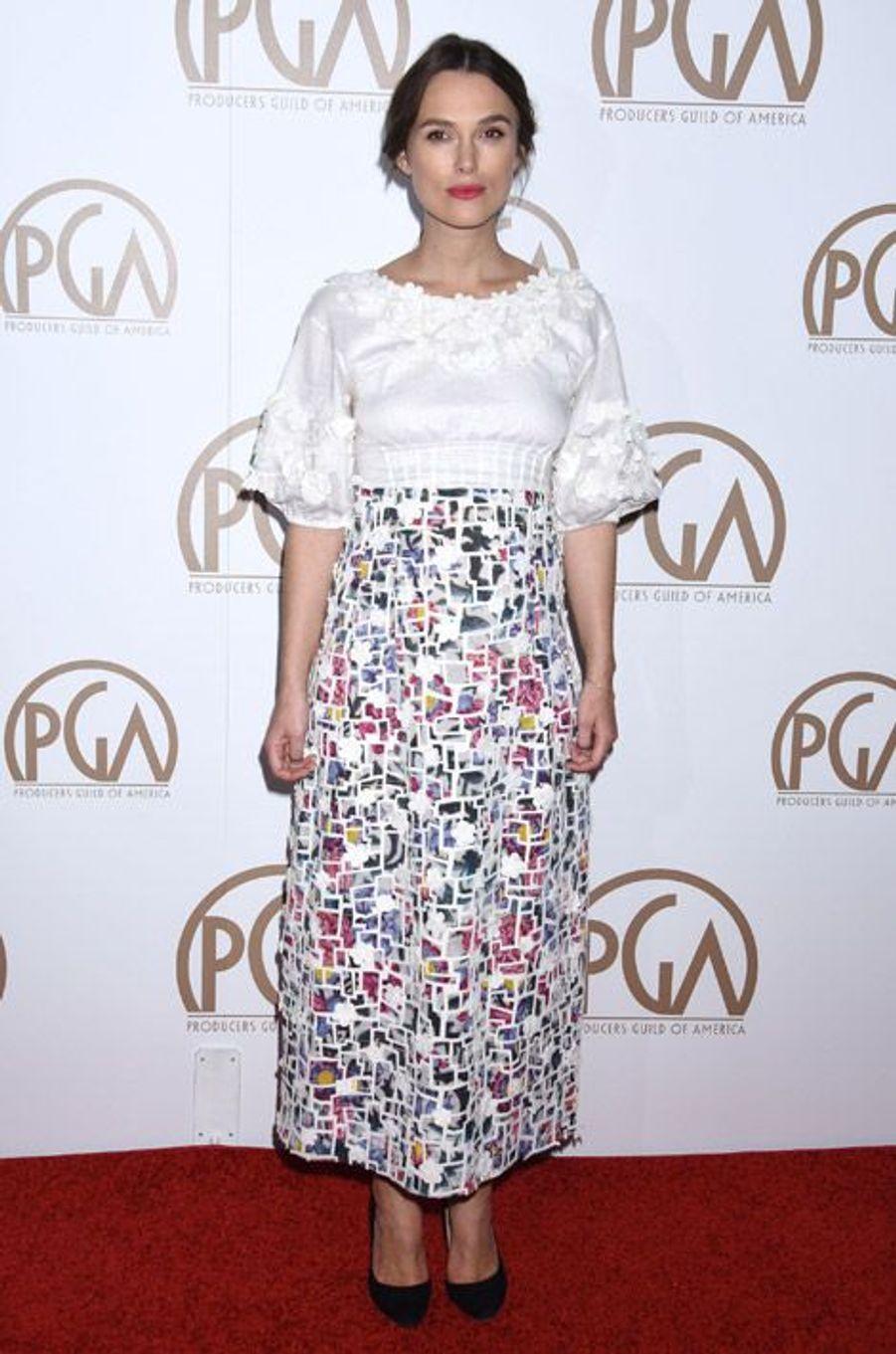 L'actrice Keira Knightley lors de la cérémonie des Producers Guild Awards à Los Angeles, le 24 janvier 2015
