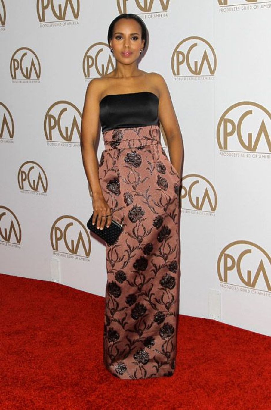 L'actrice Kerry Washington en Prabal Gurung lors de la cérémonie des Producers Guild Awards à Los Angeles, le 24 janvier 2015