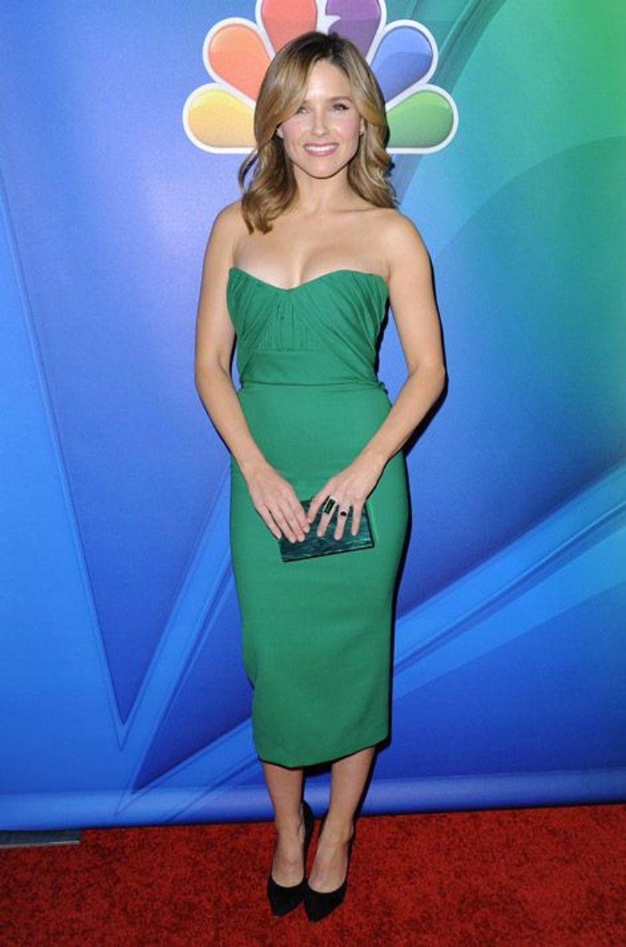 L'actrice Sophia Bush en Dsquared2 lors de la soirée NBC Universal, le 16 janvier 2015