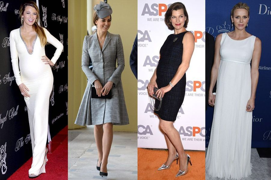 Kate Middleton, Charlène de Monaco, Blake Lively, Milla Jovovich : les plus beaux looks de stars enceintes