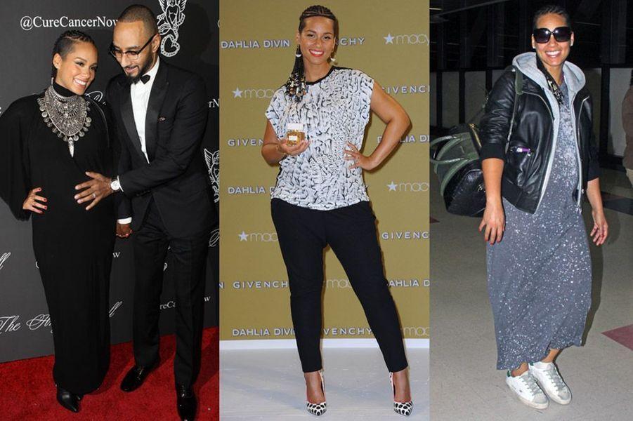 La chanteuse Alicia Keys, 33 ans attend son deuxième enfant