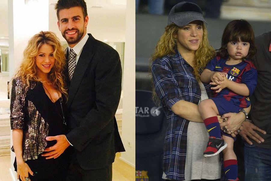 La chanteuse Shakira attend son deuxième enfant avec le footbaleur Gérard Piqué, après avoir accouché de Milan en 2013