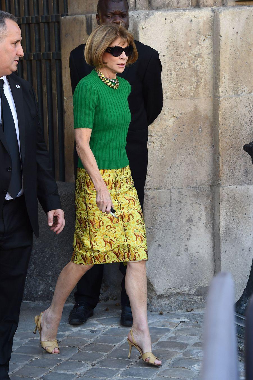 Anna Wintour lors du défilé Dior à Paris, le 26 septembre 2014
