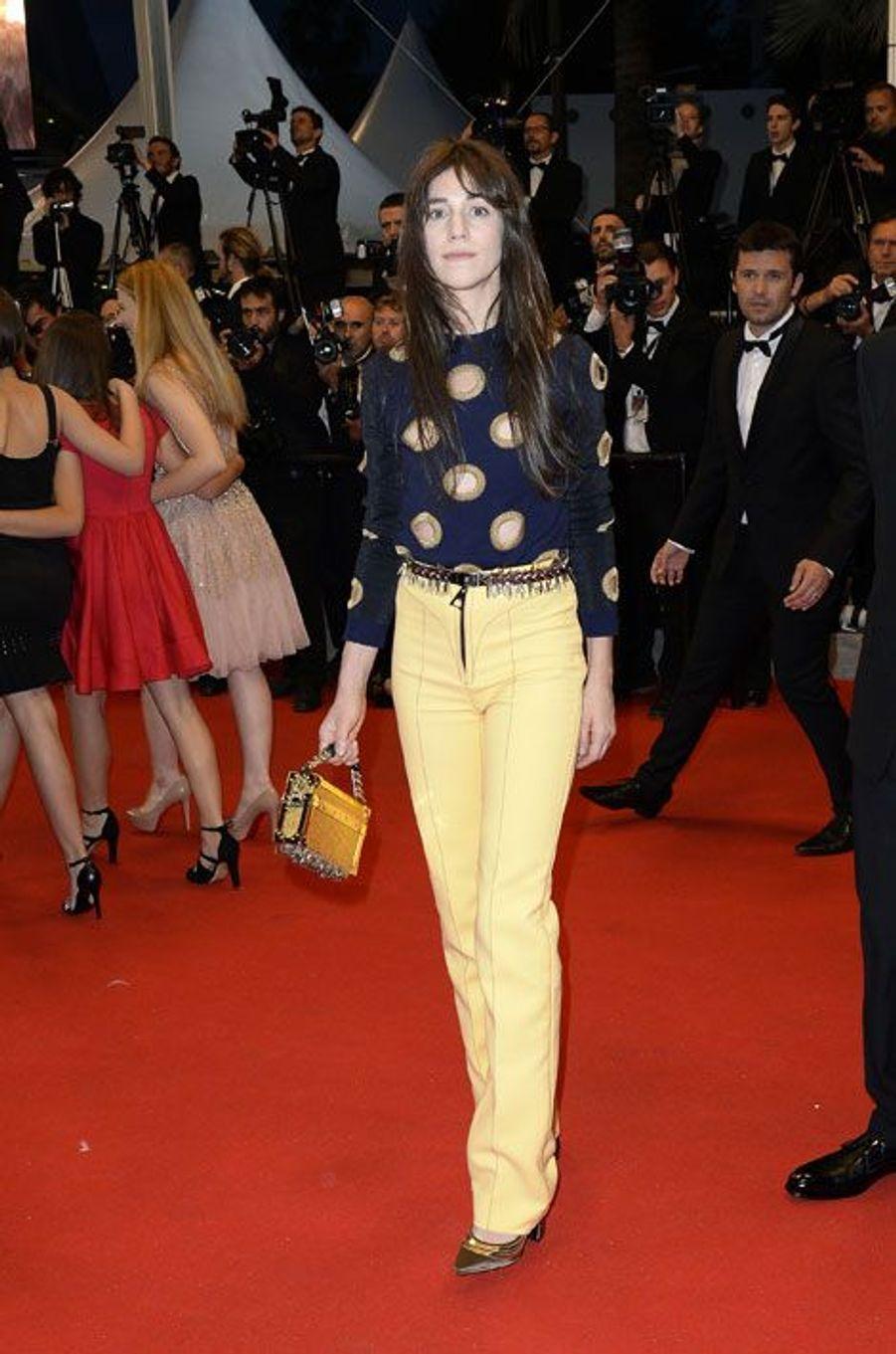 Charlotte Gainsbourg lors du festival de Cannes, le 22 mai 2014