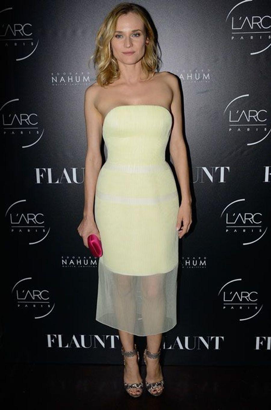 Diane Kruger lors d'une soirée à Paris, le 25 octobre 2014