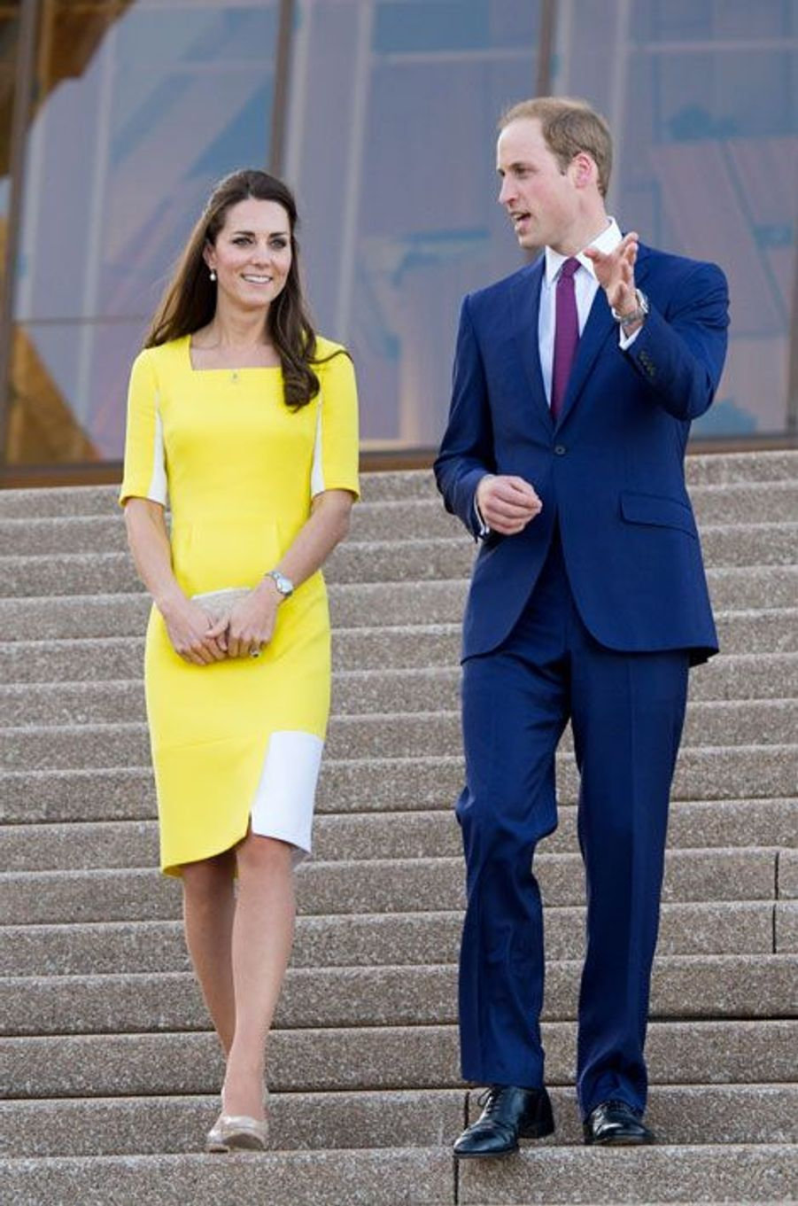 Kate Middleton et le prince William en visite à Sydney, le 16 avril 2014