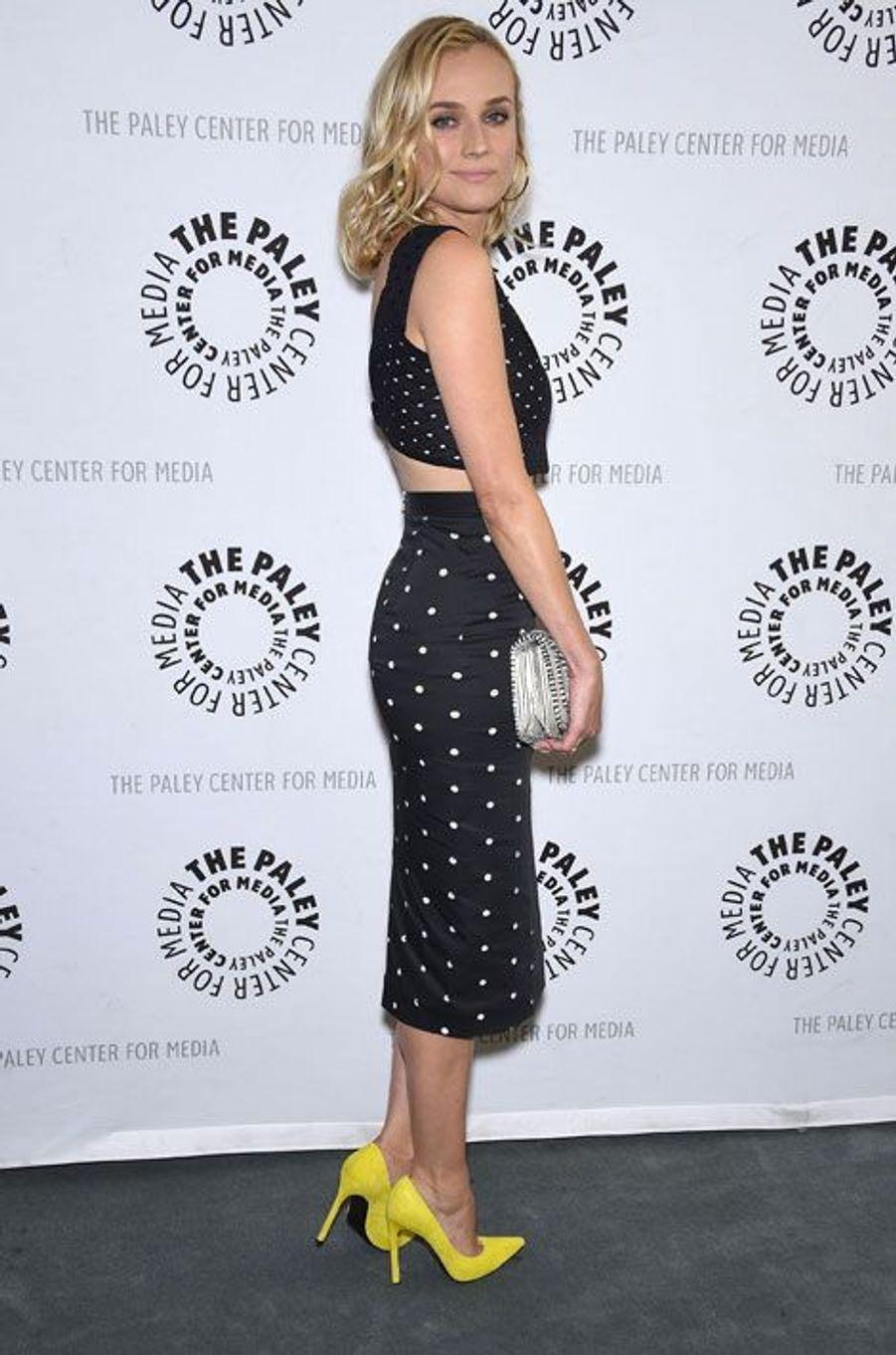 """L'actrice Diane Kruger pour la présentation de la saison 2 de sa série """"The Bridge"""", à Beverly Hills, le 24 juin 2014"""