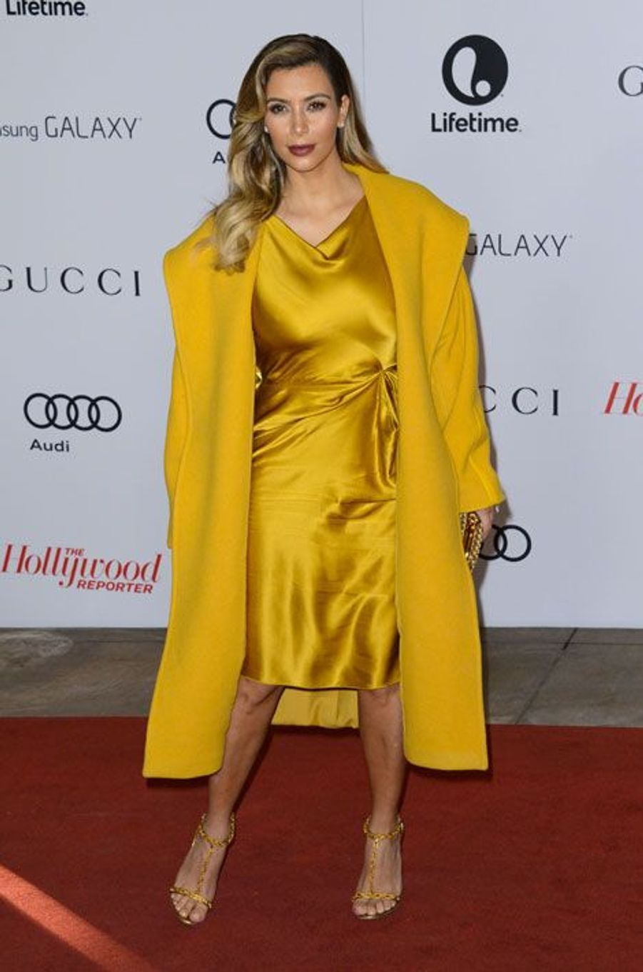 La star de la téléréalité Kim Kardashian lors d'une soirée à Beverly Hills, le 11 décembre 2013