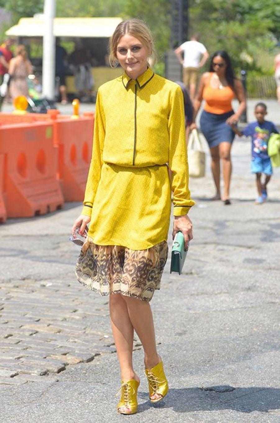 La styliste Olivia Palermo à Brooklyn, le 23 août 2014