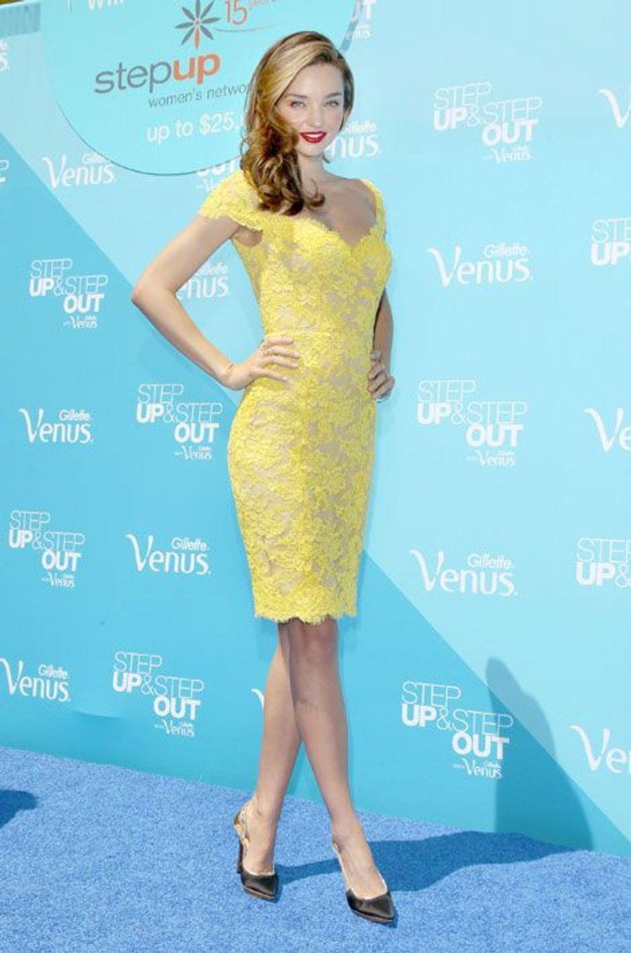 Le mannequin australien Miranda Kerr lors d'une soirée à New York, le 4 juin 2013