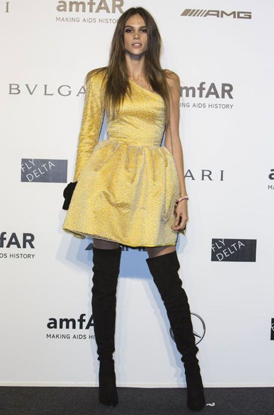 Le top-modèle Izabel Goulart lors de la Fashion Week de Milan, le 20 septembre 2014
