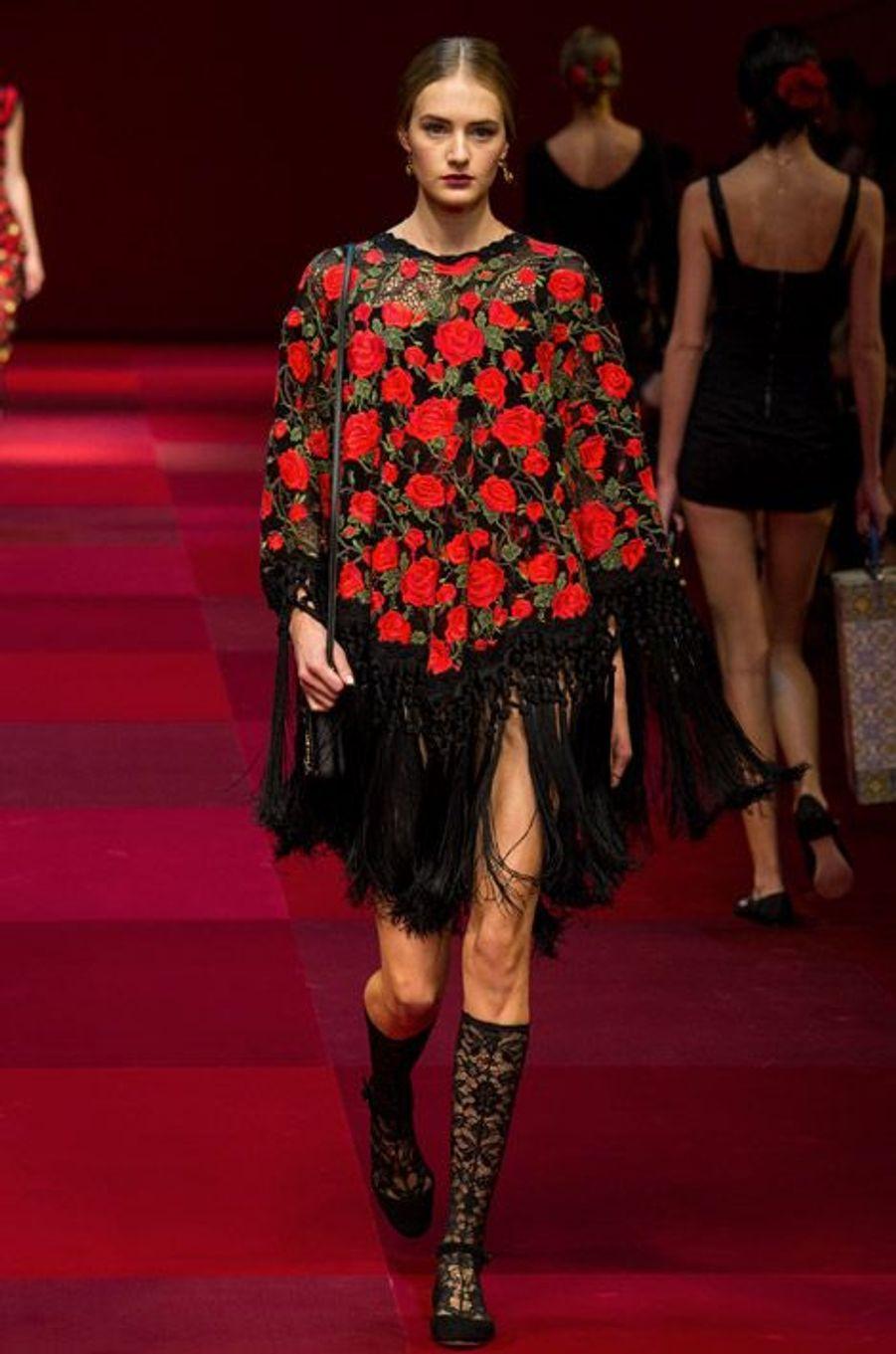 Défilé Dolce & Gabbana printemps-été 2015, à Milan, le 21 septembre 2014