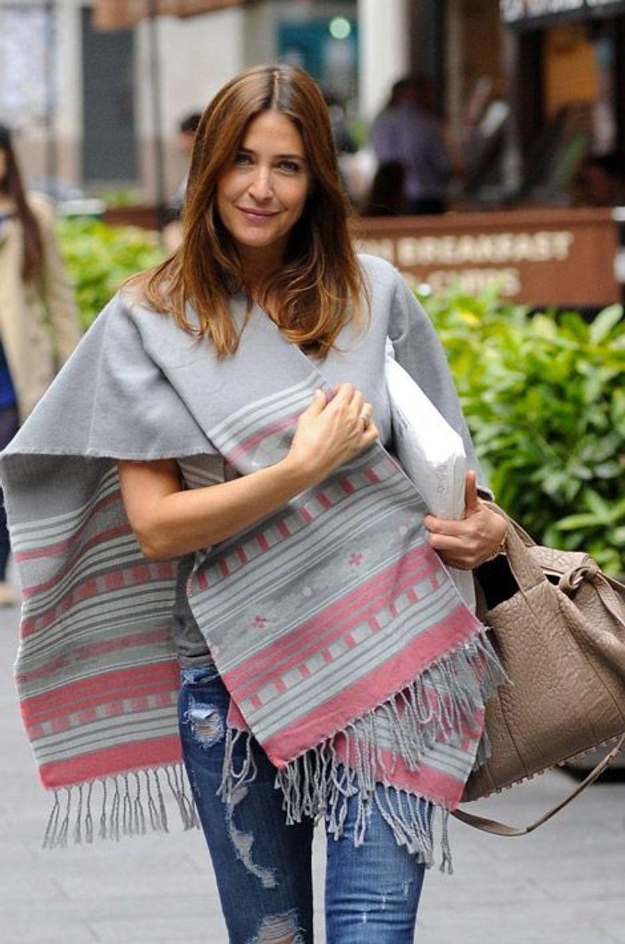 L'actrice Lisa Snowdon à Londres, le 18 juin 2014