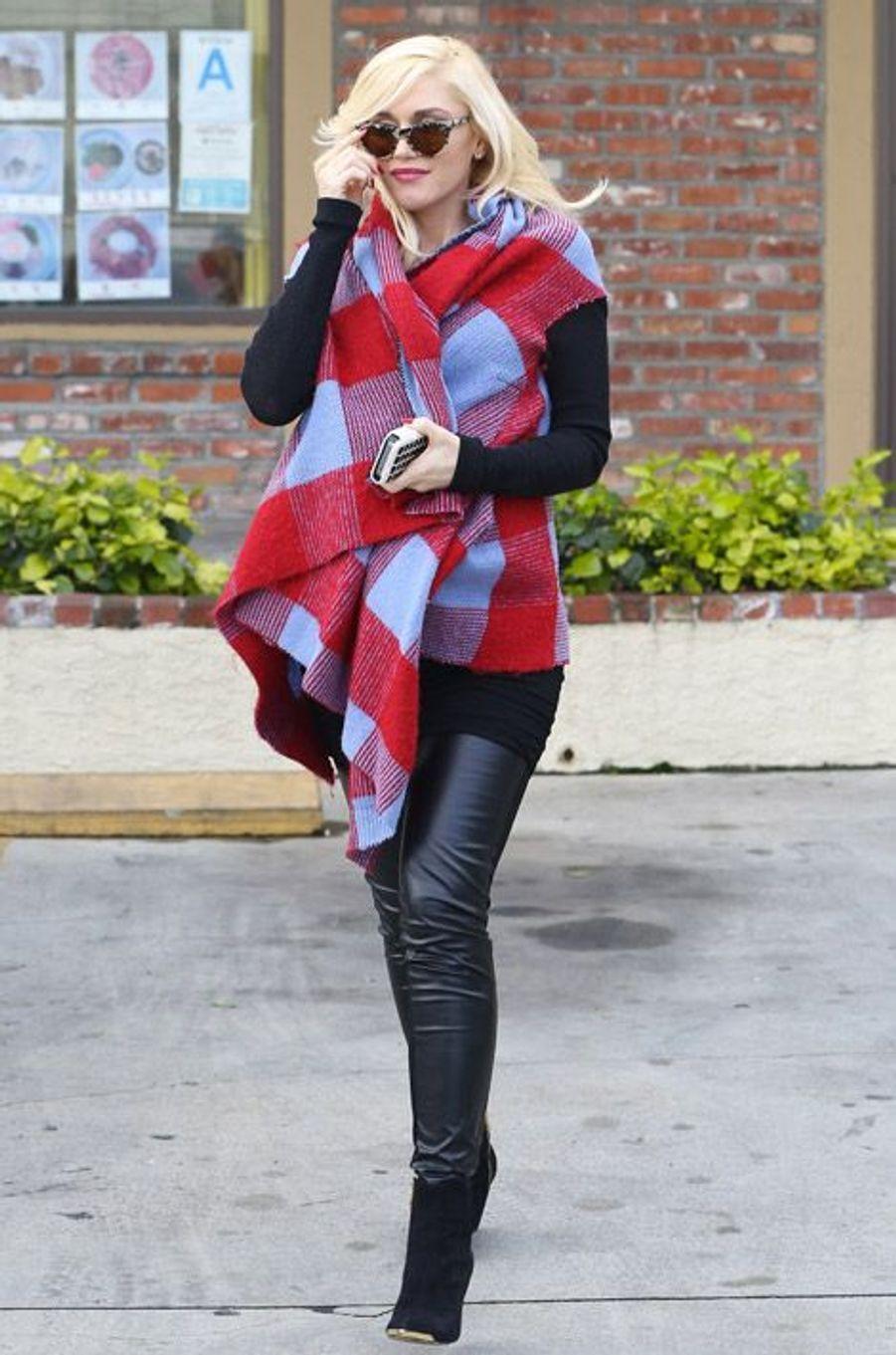 La chanteuse Gwen Stefani enceinte à Los Angeles, le 31 janvier 2014