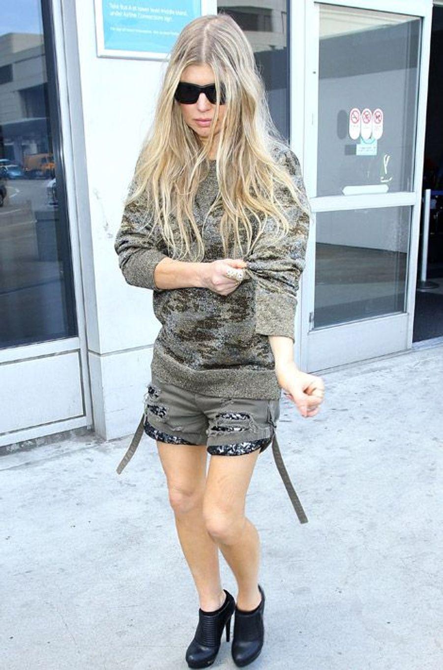 La chanteuse Fergie à Los Angeles, le 14 octobre 2014
