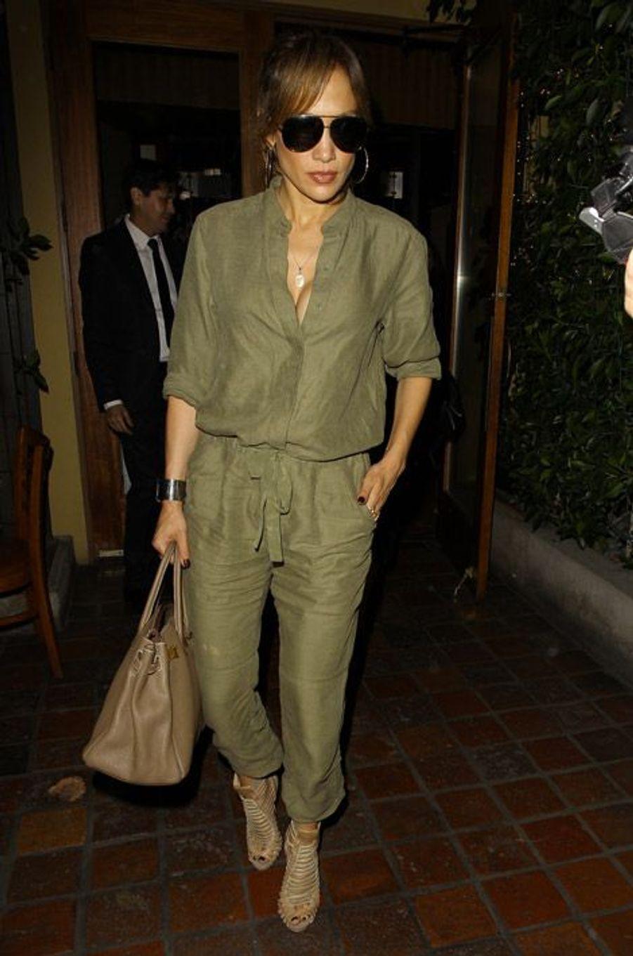 La chanteuse Jennifer Lopez lors d'une soirée à Los Angeles, le 25 septembre 2014