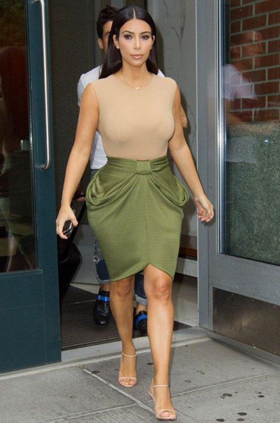 La star de la téléréalité américaine, Kim Kardashian, à New York, le 12 août 2014