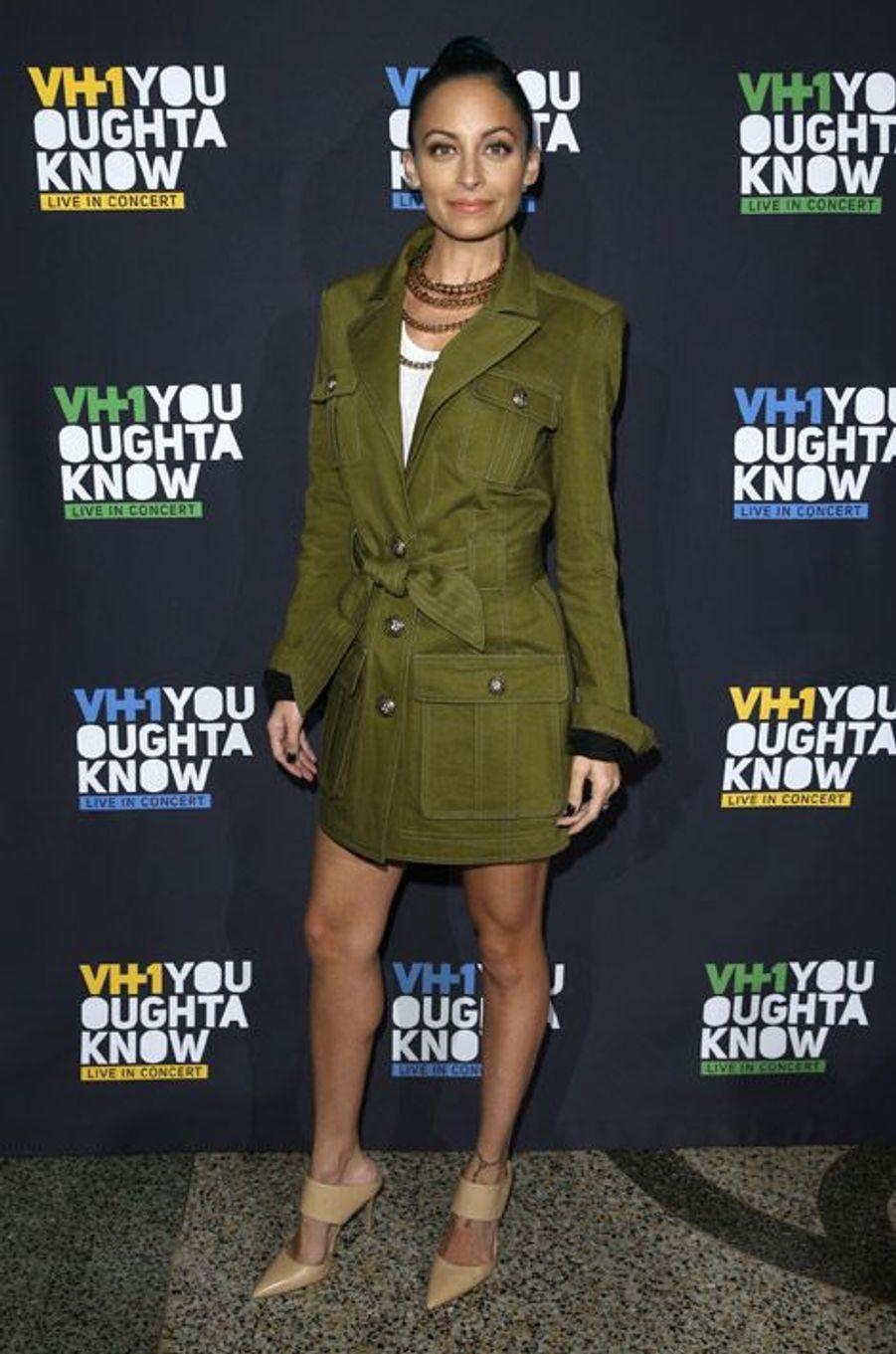 La styliste Nicole Richie après un concert à New York, le 13 novembre 2014