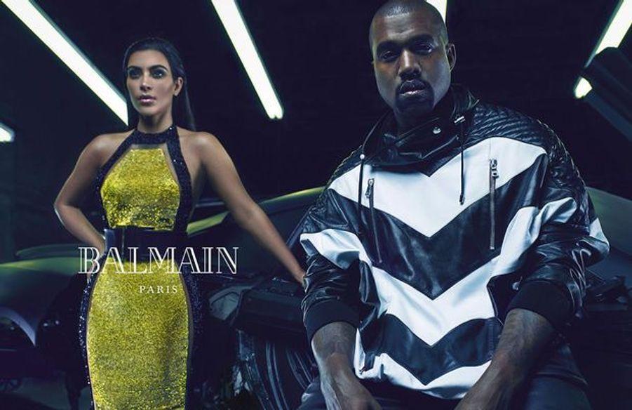 Kim Kardashian et Kanye West prennent la pose pour la nouvelle campagne de Balmain