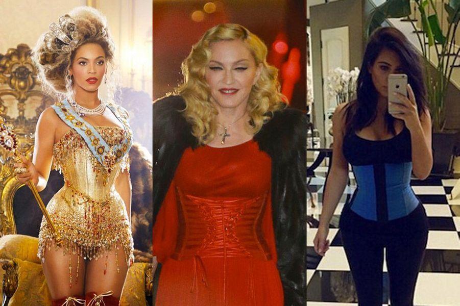 Kim Kardashian, Madonna, Beyoncé : les stars adoptent toutes la gaine et le corset, les ventes explosent