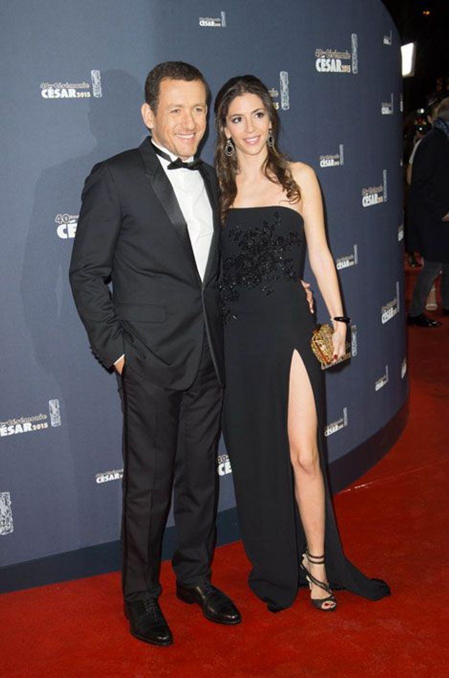 Dany Boon et sa femme lors de la cérémonie des César à Paris, le 20 février 2015