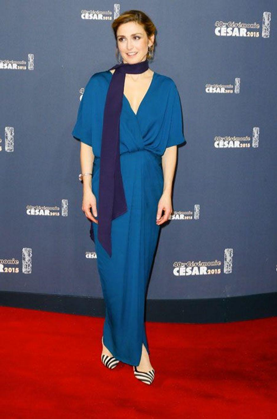 Julie Gayet lors de la cérémonie des César à Paris, le 20 février 2015