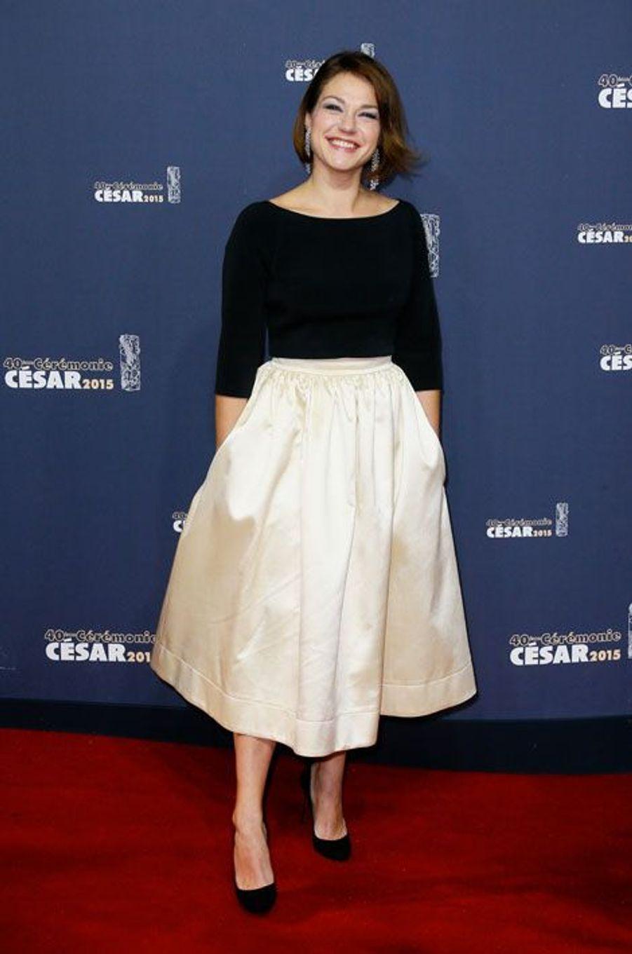 L'actrice Emilie Dequenne lors de la cérémonie des César à Paris, le 20 février 2015