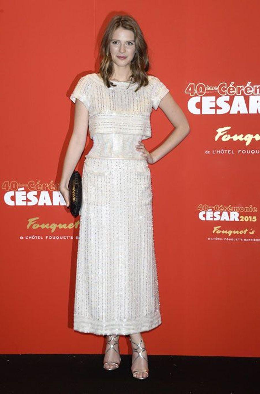 L'actrice Joséphine Japy lors de la cérémonie des César à Paris, le 20 février 2015