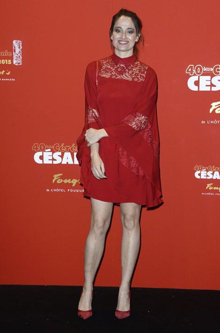 L'actrice Marie Gillain lors de la cérémonie des César à Paris, le 20 février 2015