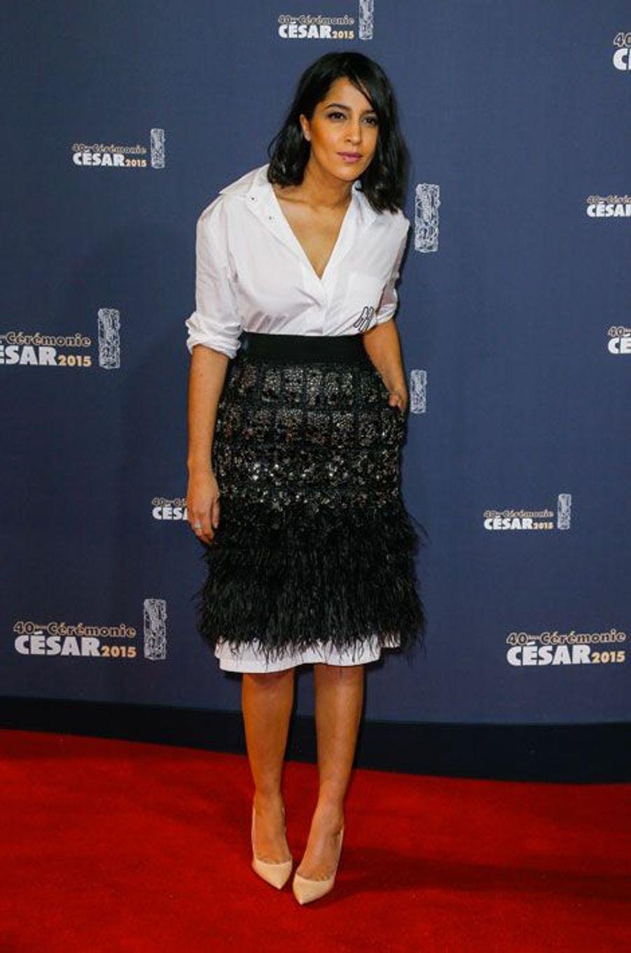 Leila Bekhti lors de la cérémonie des César à Paris, le 20 février 2015