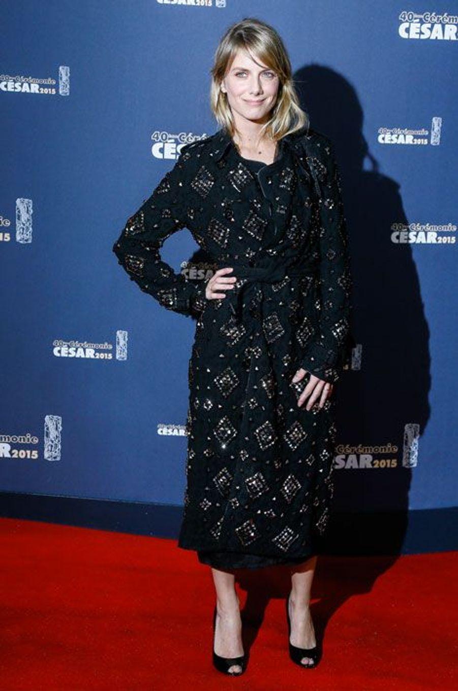 Mélanie Laurent lors de la cérémonie des César à Paris, le 20 février 2015