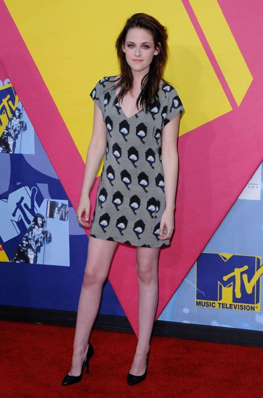 En mini-robe pour la cérémonie des MTV Video Music Awards à Los Angeles, le 7 septembre 2008