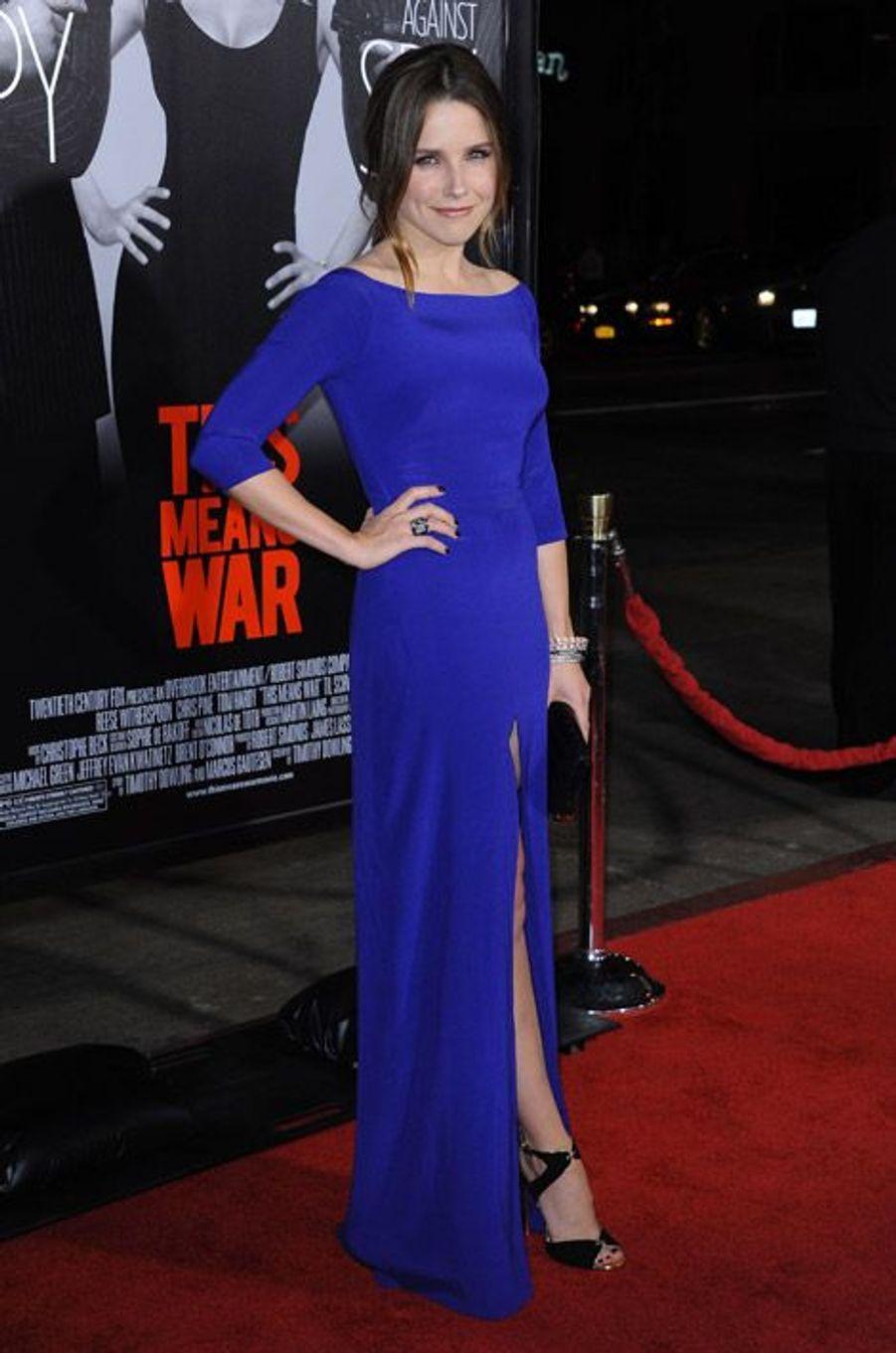 """Toujours très colorée à la première de """"This Means War"""" à Los Angeles, en août 2012"""