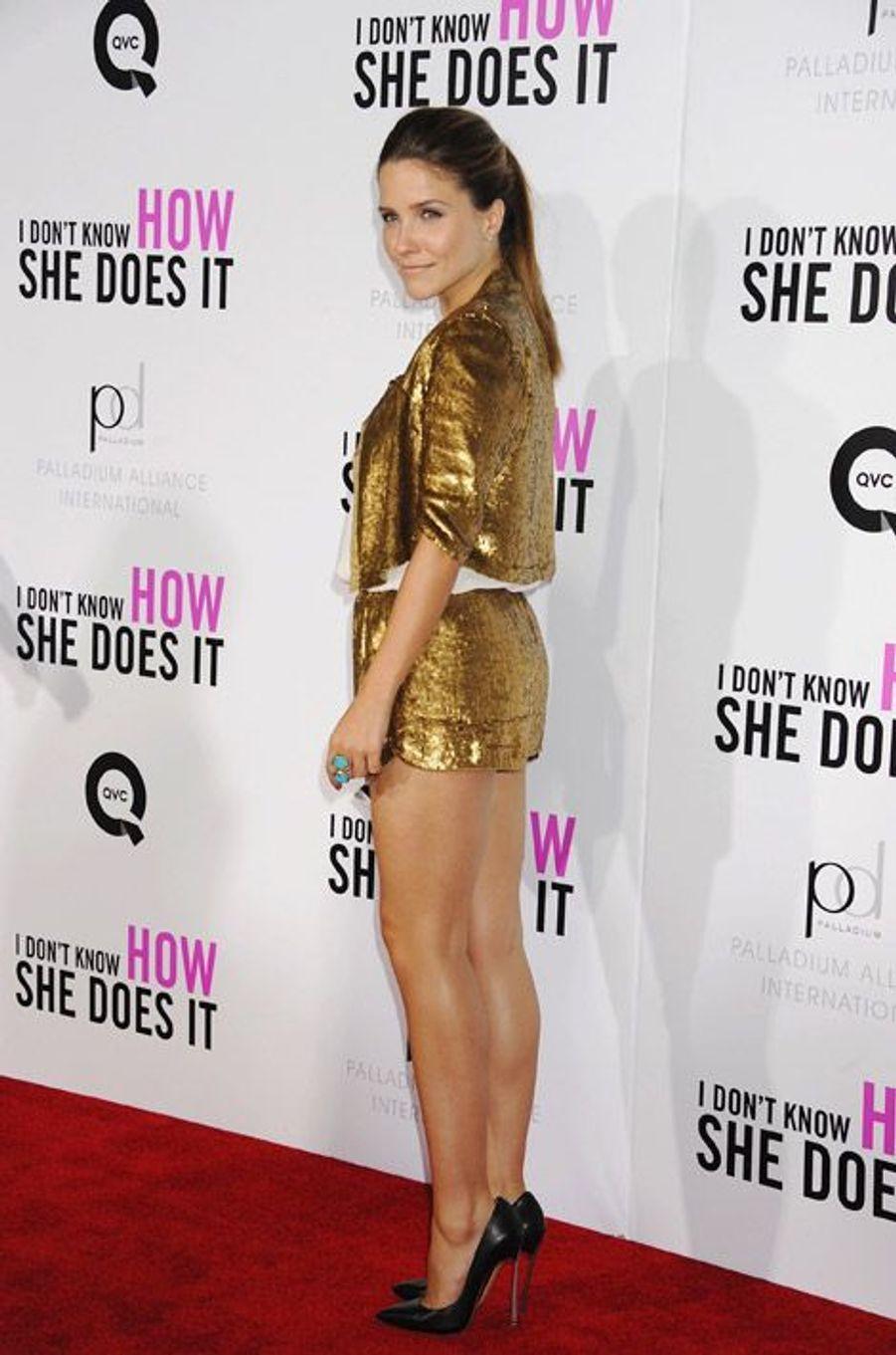 """Un côté sexy et espiègle, en septembre 2011 pour la première de """"I Don't Know How She Does It"""", à New York"""