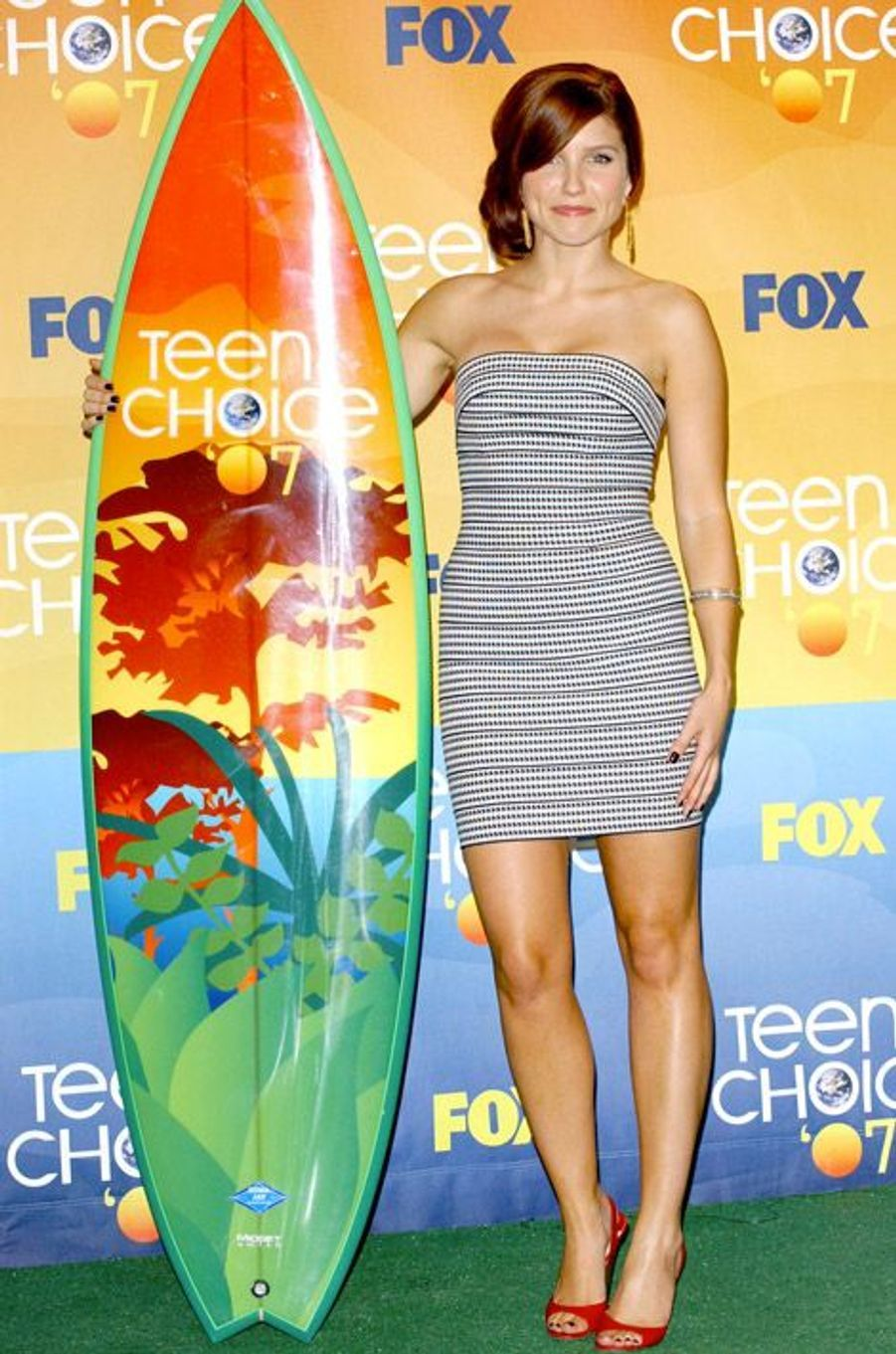 Un style toujours estival pendant les Teen Choice Awards, en 2007