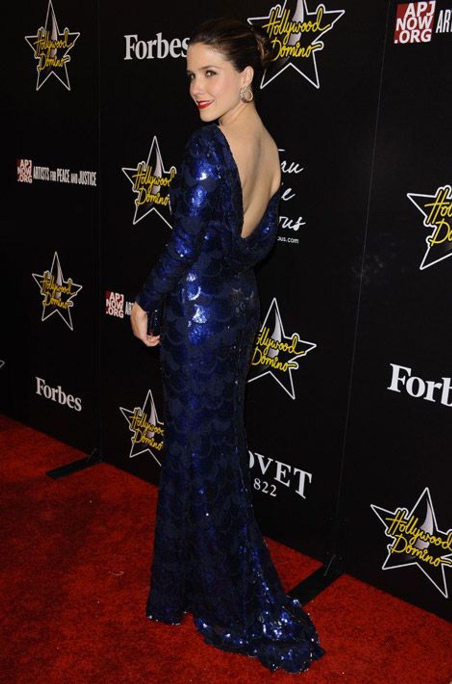 Vraie star hollywoodienne pour un gala à Los Angeles en février 2012
