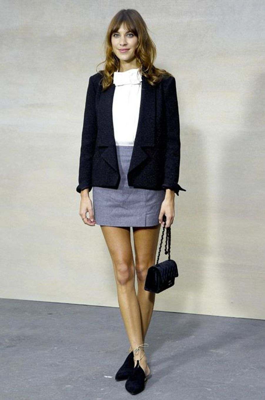 La it-girl Alexa Chung lors du défilé Chanel à Paris, le 30 septembre 2014