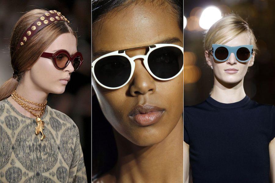 Des lunettes rondes chezStella McCartney ,Dries Van Noten et Valentino.