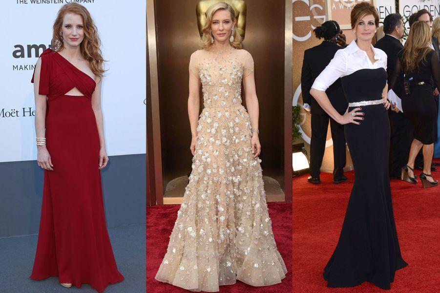 Le «Hollywood Reporter» a dressé le top 25 des stylistes de stars les plus influents d'Hollywood. Celles et ceux qui œuvrent dans l'ombre sont les orchestrateurs de «coups» de mode repris dans la presse du monde entier, qu'ils soient réalisés sur les stars légendaires ou les actrices montantes. Retrouvez en images le top 10 du classement.La numéro 1 du classement est Elizabeth Stuart. Elle a notamment habillé aux Oscars Cate Blanchett, Sandra Bullock et Julia Roberts, toutes trois nommées. Elle compte parmi sa clientèleJessica Chastain, Amanda Seyfried et January Jones.